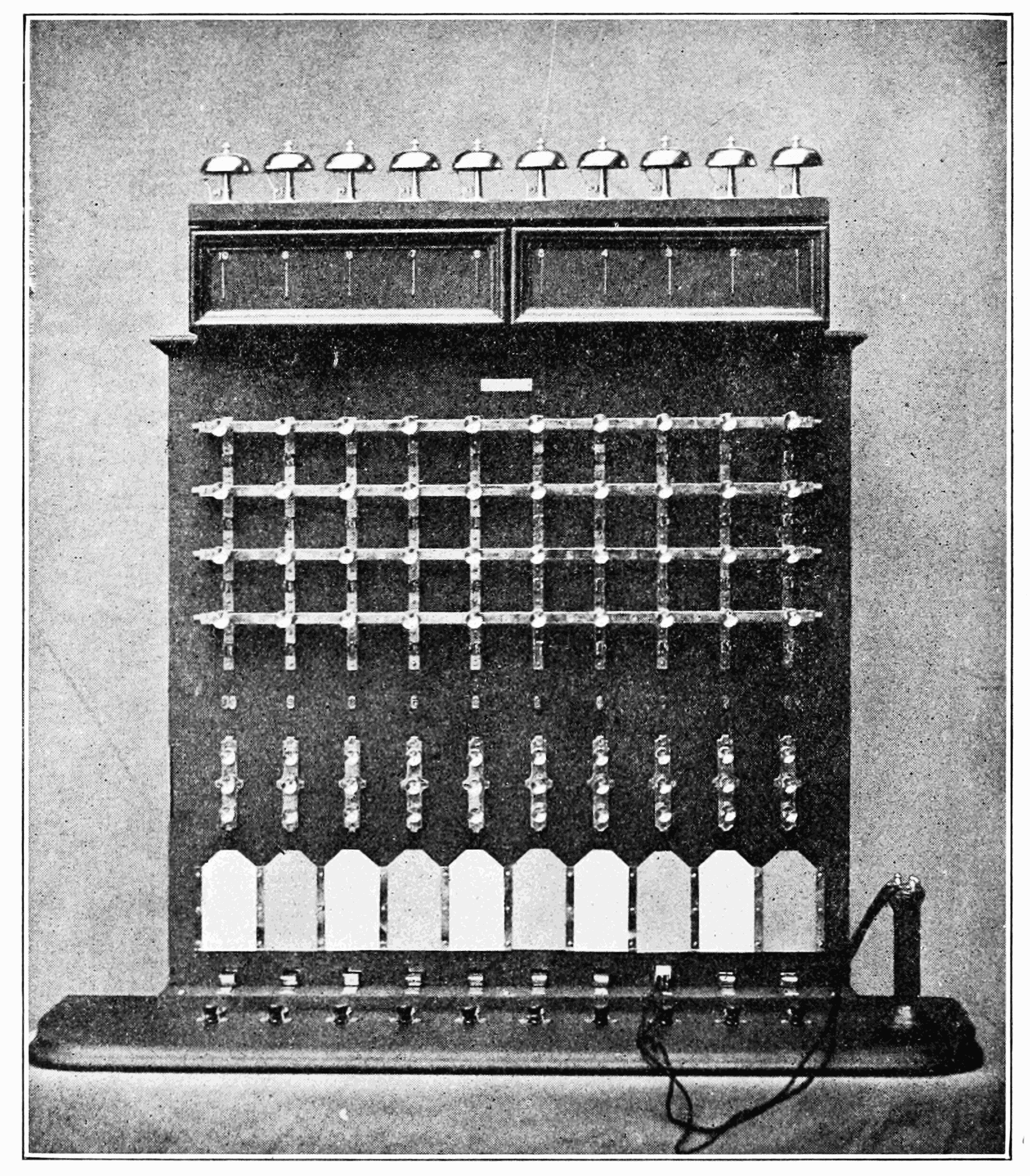 image 1907 forty wire telephone switchboard